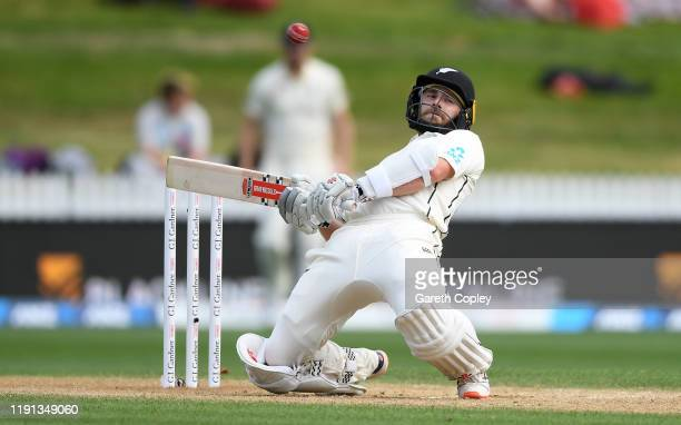 New Zealand captain Kane Williamson avoids a ball from Jofra Archer of England during day 4 of the second Test match between New Zealand and England...