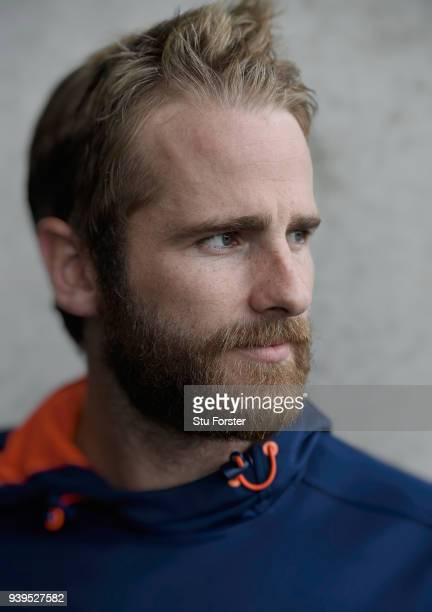 New Zealand captain Kane Williamson pictured ahead of the second test match against the New Zealand Black Caps at Hagley Oval on March 29 2018 in...