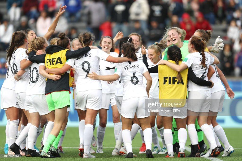 New Zealand v Canada - FIFA U-17 Women's World Cup Uruguay 2018 3rd Place : News Photo