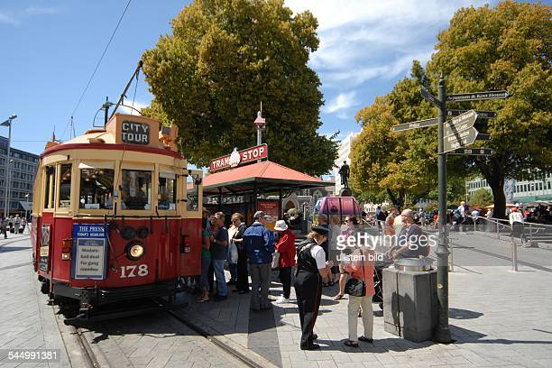 City trams all restored veterans on their circular route with tourist passengers