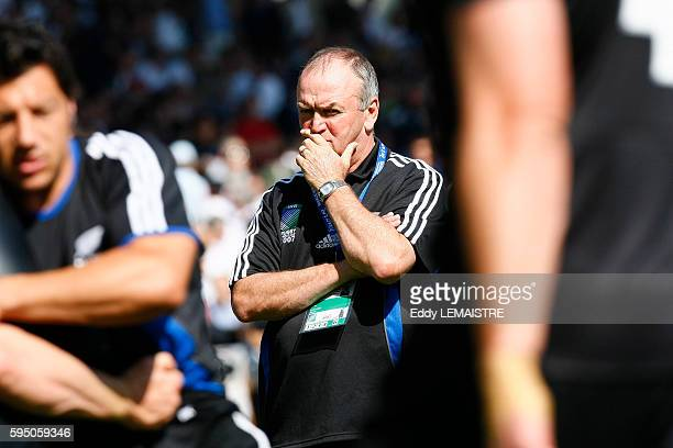 New Zealand coach Graham Henry during the IRB World Cup rugby match between New Zealand and Portugal.