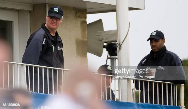 New Zealand coach John Bracewell during the NatWest Series One Day International at the County Ground Bristol