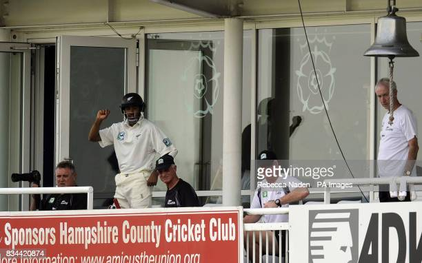 New Zealand coach John Bracewell on the players balcony during the Tour match at The Rose Bowl Southampton