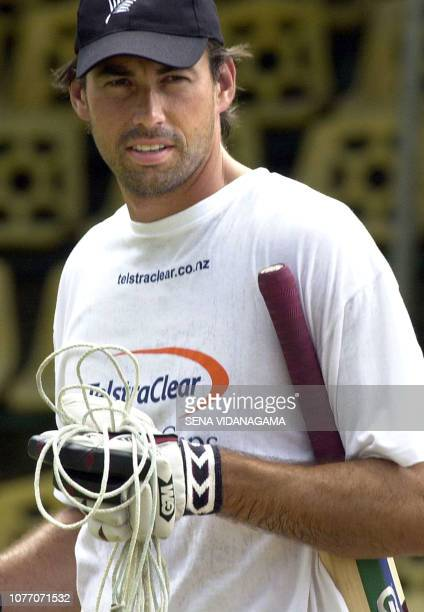 New Zealand cricket team's captain Stephen Fleming during a practice session at Asgiriya stadium in Kandy, 02 May 2003. New Zealand and hosts Sri...