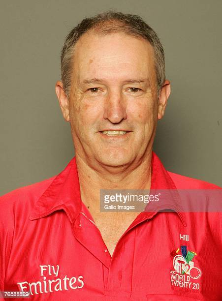 New Zealand Cricket Umpire Tony Hill poses during the ICC Twenty20 World Cup portrait session on September 7 2007 in Johannesburg South Africa