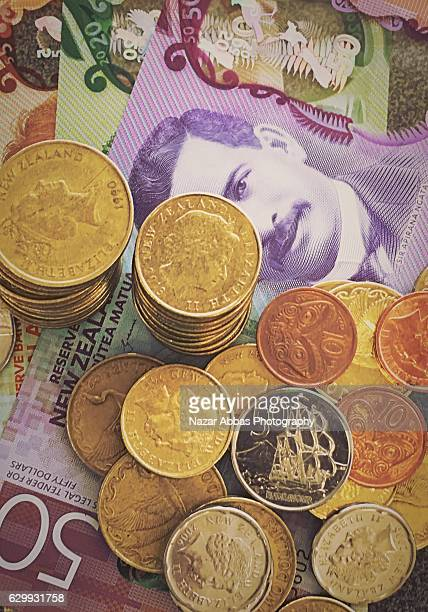 New Zealand Currency with New Currency Notes.