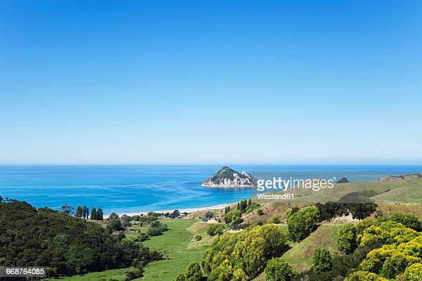 new zealand, east cape, anaura bay, beach and south pacific - northland new zealand stock pictures, royalty-free photos & images