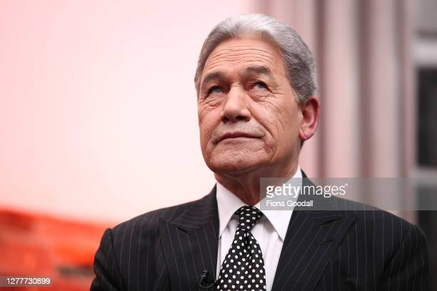 New Zealand First leader Winston Peters speaks during Newshub Nation's Powerbrokers Debate on October 01, 2020 in Auckland, New Zealand.