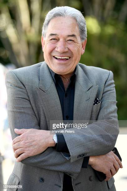 New Zealand First Leader Winston Peters visits Te Puna Market on September 26, 2020 in Auckland, New Zealand. The 2020 New Zealand General Election...
