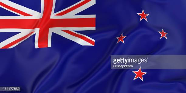 new zealand flag - new zealand flag stock photos and pictures