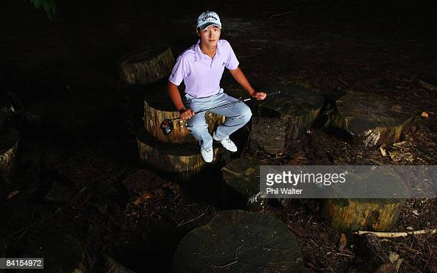 New Zealand golfer Danny Lee poses during a portrait session at the Springfield Golf Club January 02 2009 in Rotorua New Zealand Lee became the...