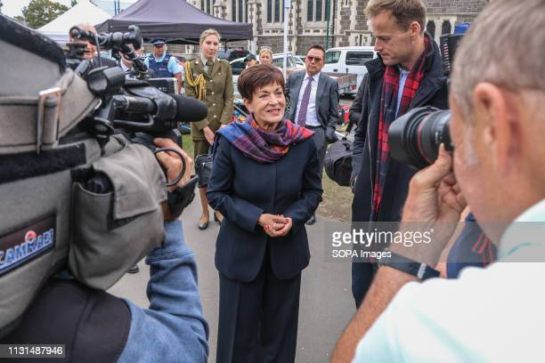 New Zealand Governor General Patsy Reddy talks to world media about the victims of the Christchurch mosques terror attacks Around 50 people has been...