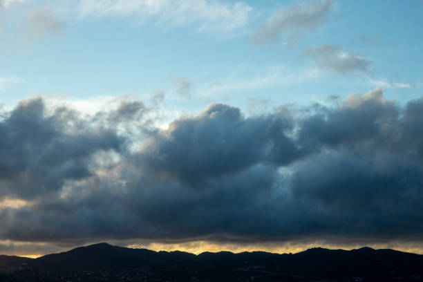 New Zealand hills at sunset