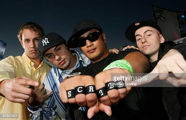 New Zealand Hip Hop Artist Scribe arrives with his band for the second MTV Australia Video Music Awards at the Sydney SuperDome April 12 2006 in...