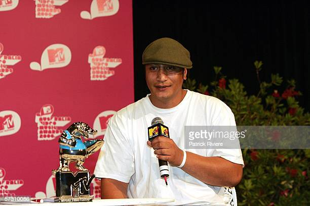 New Zealand Hip Hop Artist Scribe attends the press conference for the MTV Australian Video Music Awards 2006 at the Hilton Hotel on April 11 2006 in...