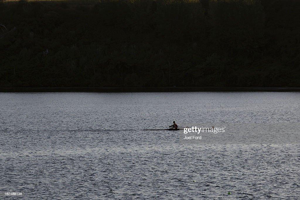 New Zealand Junior Rowing Regatta on February 24, 2013 in Auckland, New Zealand.