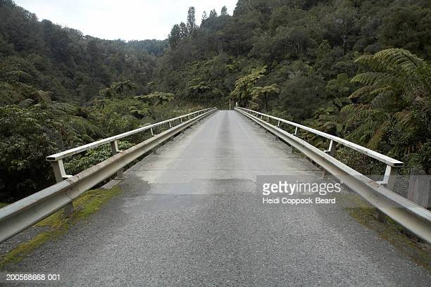 new zealand, king country, empty highway in woodland - heidi coppock beard photos et images de collection