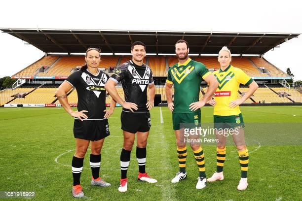 New Zealand Kiwi Ferns captain Honey Hireme New Zealand Kiwis captain Dallin Watene Zelezniak Australian Kangaroos captain Boyd Cordner and...