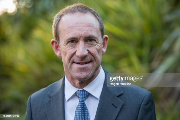 New Zealand Labour Party leader Andrew Little poses for portraits at Parliament on July 5 2017 in Wellington New Zealand