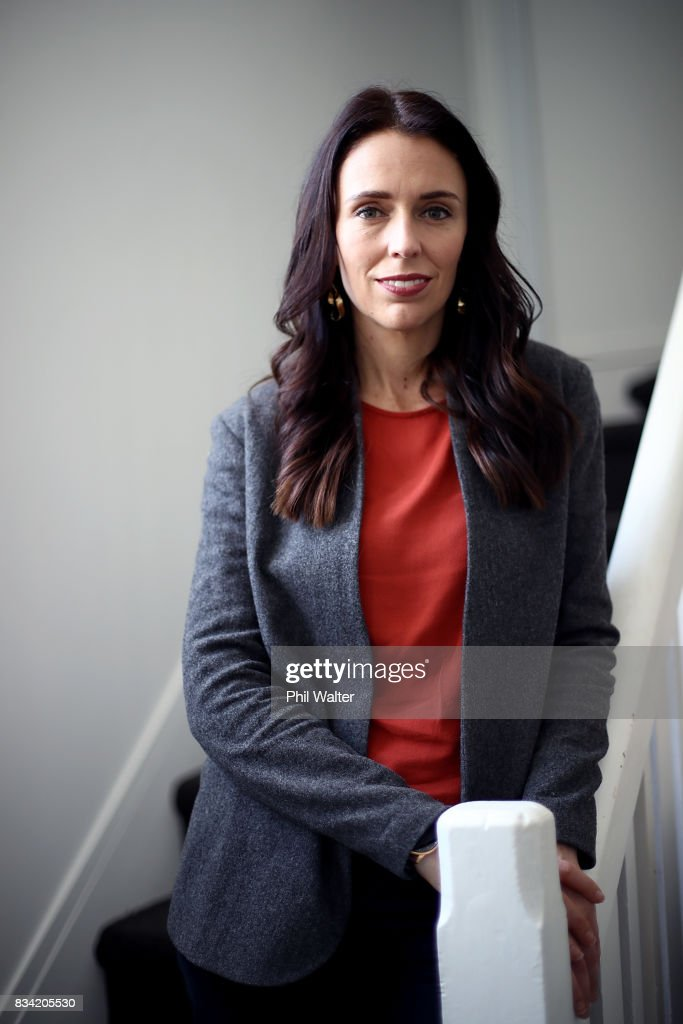 Portraits Of New Zealand Labour Party Leader Jacinda Ardern