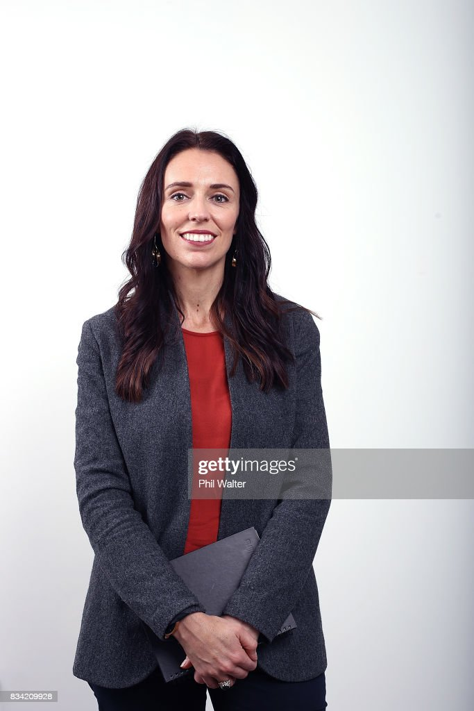 New Zealand Labour Party leader Jacinda Ardern poses for a portrait at her Mt Albert electorate office on August 18, 2017 in Auckland, New Zealand.