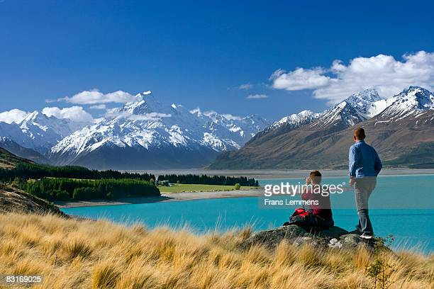 New Zealand, Lake Pukaki and Mount Cook.