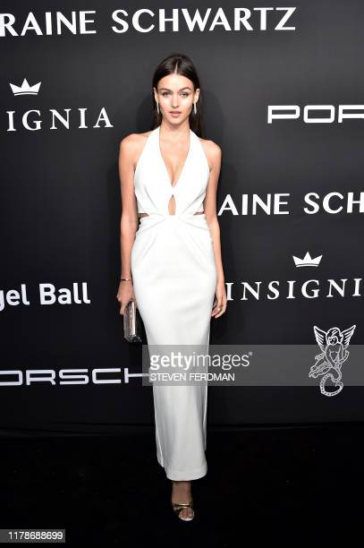 New Zealand model Gabby WestbrookPatrick attends Gabrielle's Angel Foundation for Cancer Research Angel Ball 2019 at Cipriani Wall Street on October...