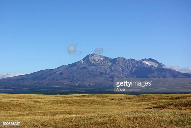 New Zealand Mount Ruapehu peak of Tongariro National Park on the North Island This park is listed UNESCO World Heritage site for its cultural...