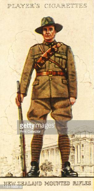 New Zealand Mounted Rifles' 1936 From Military Uniforms of the British Empire Overseas [John Player Sons 1936] Artist Unknown
