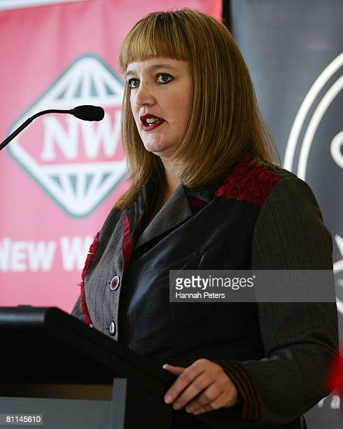 New Zealand Netball CEO Raelene Castle speaks to the media during a press conference at Vector Arena on May 19 2008 in Auckland New Zealand Netball...