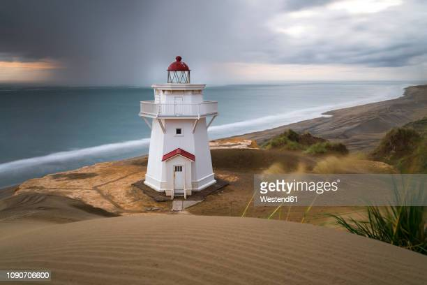 New Zealand, North Island, Kaipara Head North, Pouto Point, Lighthouse