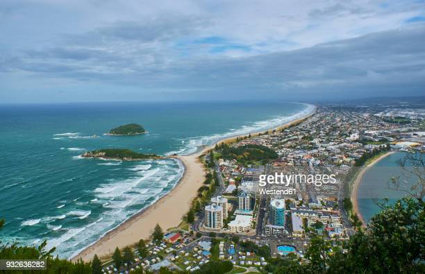 New Zealand, North Island, Tauranga as seen from Mount Maunganui