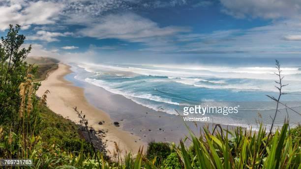 New Zealand, North Island, view to Maunganui Bluff Beach