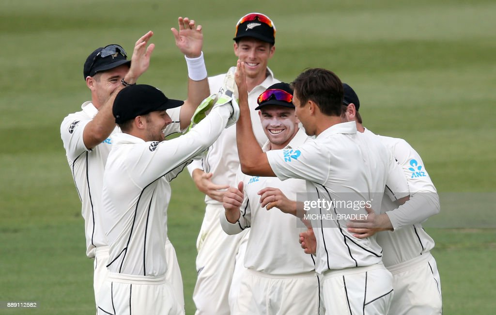 CRICKET-NZL-WIS : News Photo