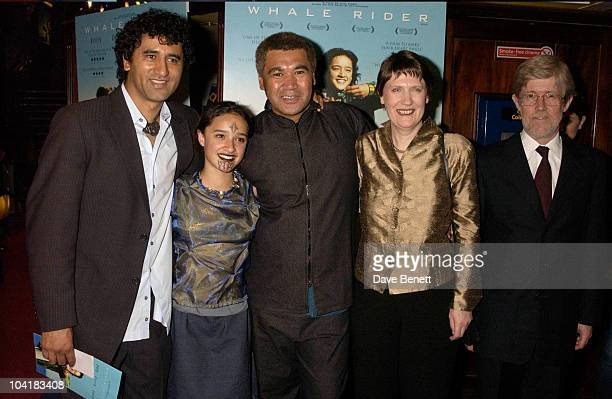 New Zealand Pm Helen Clark And Husband Peter Davies With Keisha Castle Hughes Cliff Curtis And Rawiri Paratene The Whale Rider Movie Premiere At The...