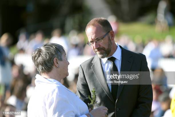 New Zealand politician Andrew Little attends the Wellington Vigil held at the Basin Reserve on March 17 Wellington New Zealand 50 people are...