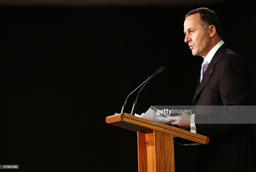 New Zealand Prime Mininster John Key announces the government's new anti-pseudoephedrine package on October 8, 2009 in Auckland, New Zealand. The government has announced a ban on over-the-counter sale of the drug pseudoephedrine, or P, which is commonly used in cold and flu medications. Addiction to the drug has become an increasing problem in New Zealand and the government will invest a further NZ$22 million for P treatment over the next three years and increase investment in special detox facilities.