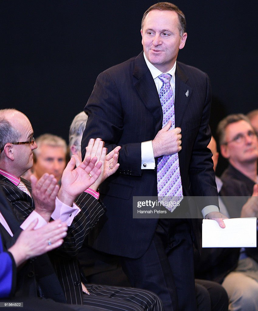 New Zealand Prime Mininster John Key is congratulated after announcing the government's new anti-pseudoephedrine package on October 8, 2009 in Auckland, New Zealand. The government has announced a ban on over-the-counter sale of the drug pseudoephedrine, or P, which is commonly used in cold and flu medications. Addiction to the drug has become an increasing problem in New Zealand and the government will invest a further NZ$22 million for P treatment over the next three years and increase investment in special detox facilities.