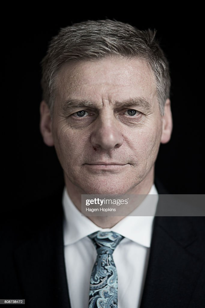 Portraits Of New Zealand Prime Minister And National Party Leader Bill English