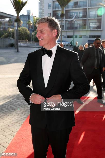 New Zealand Prime Minister Bill English arrives at the 54th Halberg Awards at Vector Arena on February 9 2017 in Auckland New Zealand