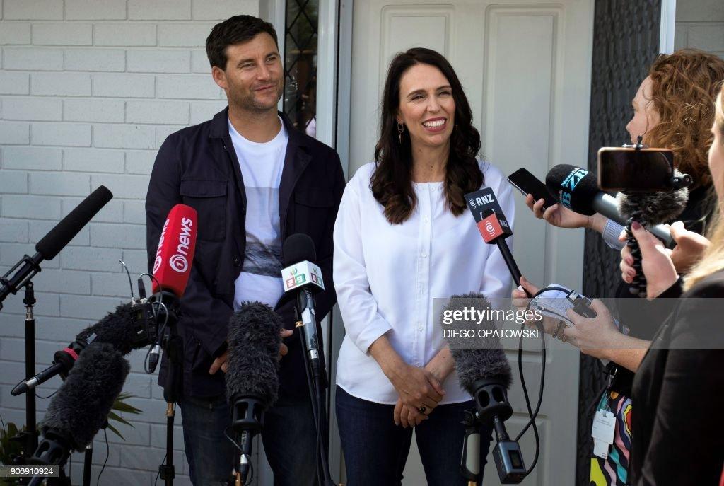 NZEALAND-POLITICS-FAMILY : News Photo