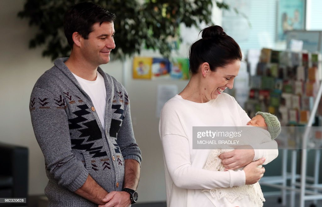 NZEALAND-FAMILY-POLITICS-ARDERN : News Photo
