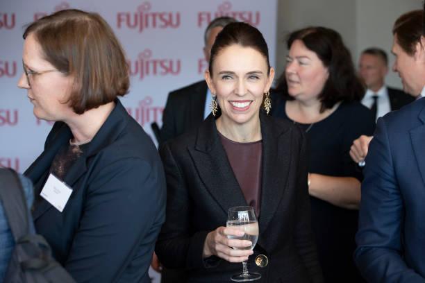 NZL: Prime Minister Jacinda Ardern Speaks At Business NZ Pre-Budget Lunch