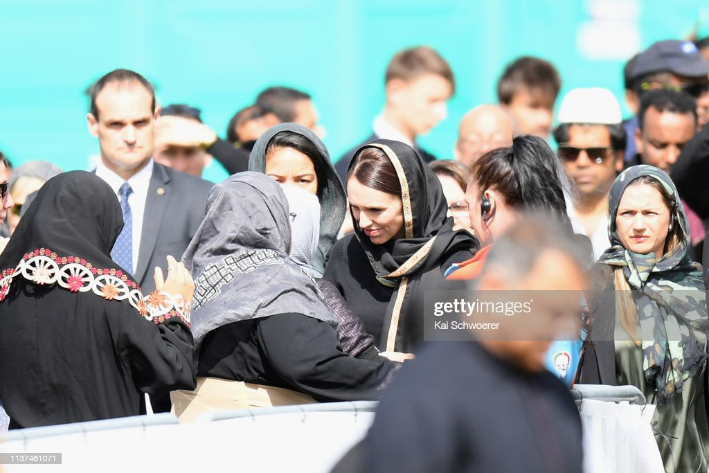 Christchurch Marks One Week Since Deadly Mosque Attacks : Nieuwsfoto's