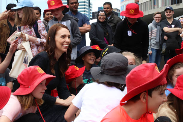 NZL: Prime Minister Jacinda Ardern And Labour Caucus Official Photo