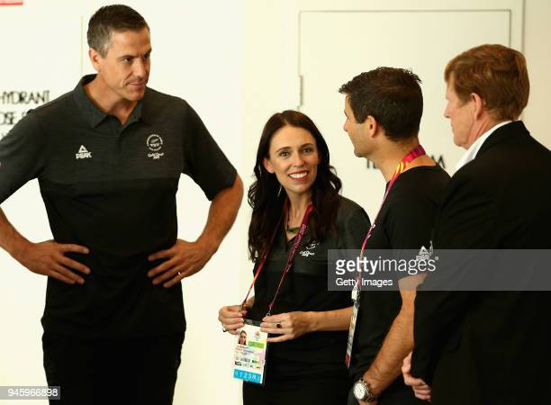 New Zealand Prime Minister Jacinda Ardern meets with athletes on day 10 of the Gold Coast 2018 Commonwealth Games on April 14, 2018 in Gold Coast,...