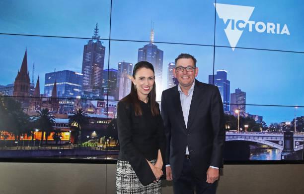 AUS: Prime Minister Jacinda Ardern Meets Victorian Premier In Melbourne
