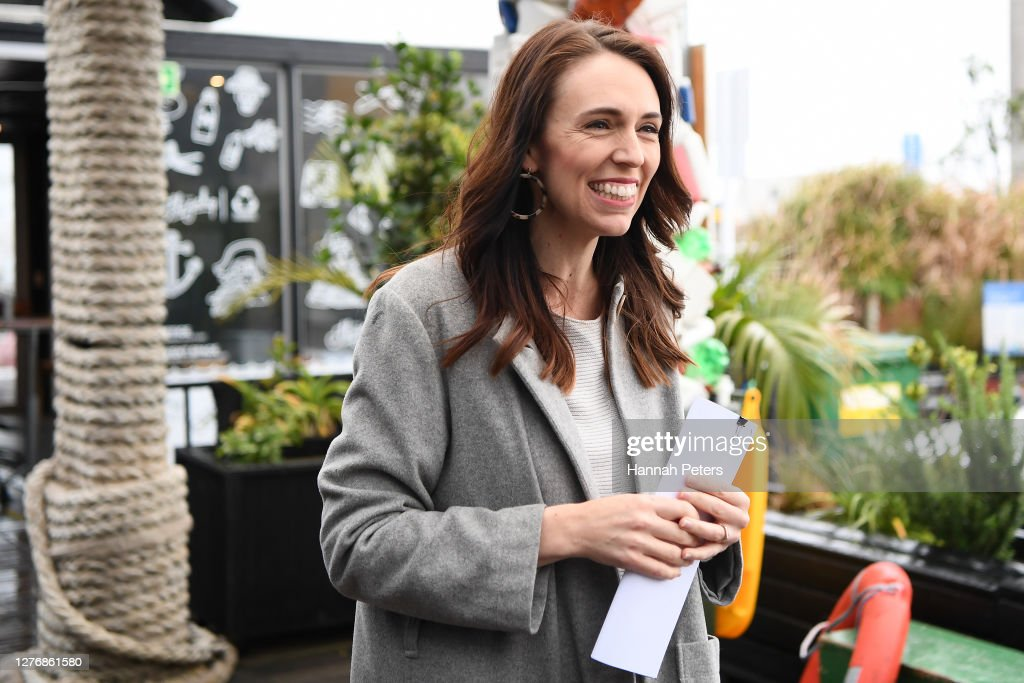 Prime Minister Jacinda Ardern And Labour Party Announcement on Plastics : News Photo
