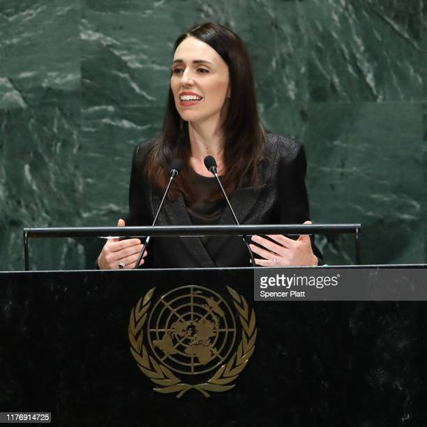 New Zealand Prime Minister Jacinda Ardern speaks at the 74th United Nations General Assembly on September 24, 2019 in New York City. The United...