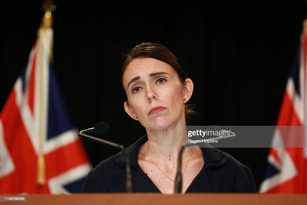 NZL: Prime Minister Ardern Holds Press Conference In Wellington